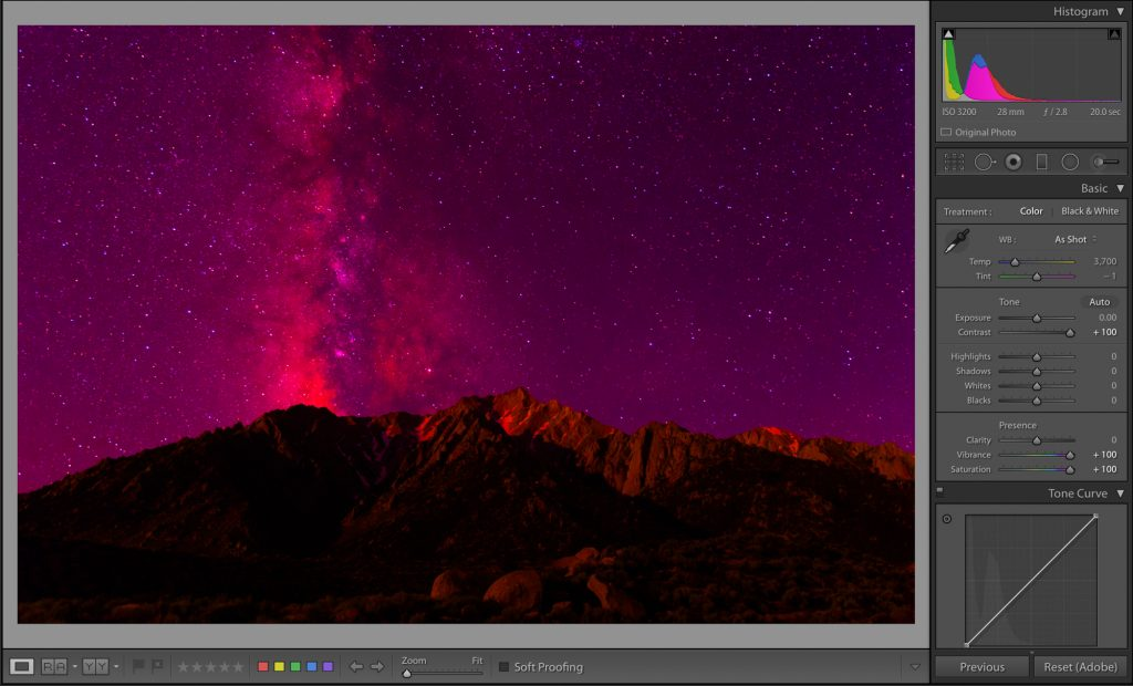Enhancing the colour in the image by increasing saturation and contrast