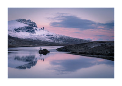 A still winter sunrise over Loch Fada, The Isle of Skye. Available as a print on my store