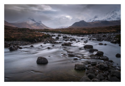 The Sligachan River flowing in The Isle of Skye, Scotland. Available as a print on my store